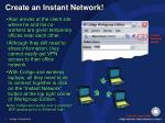 create an instant network