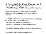 linking within one document