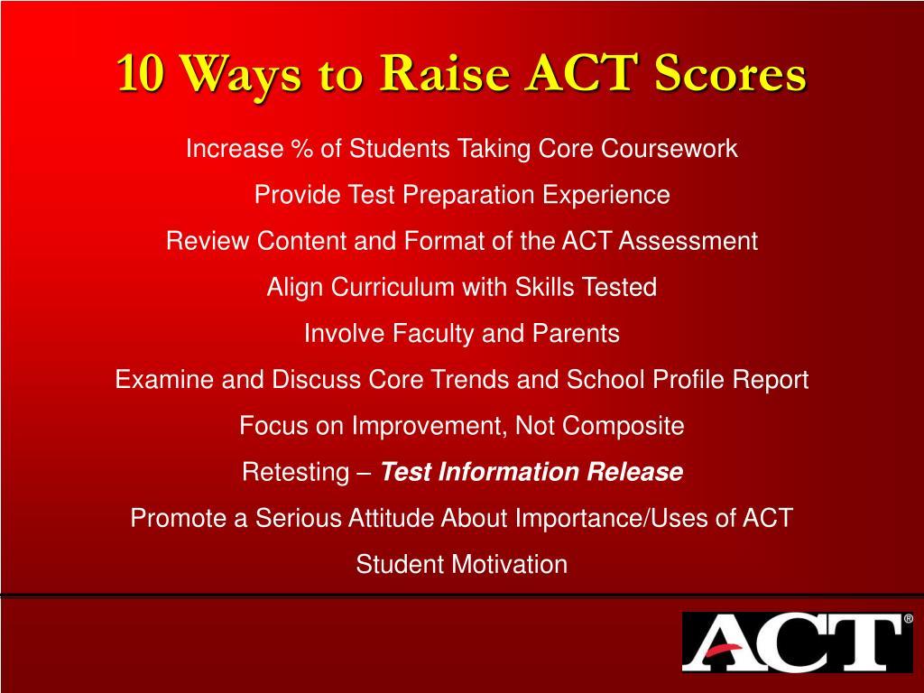 10 Ways to Raise ACT Scores