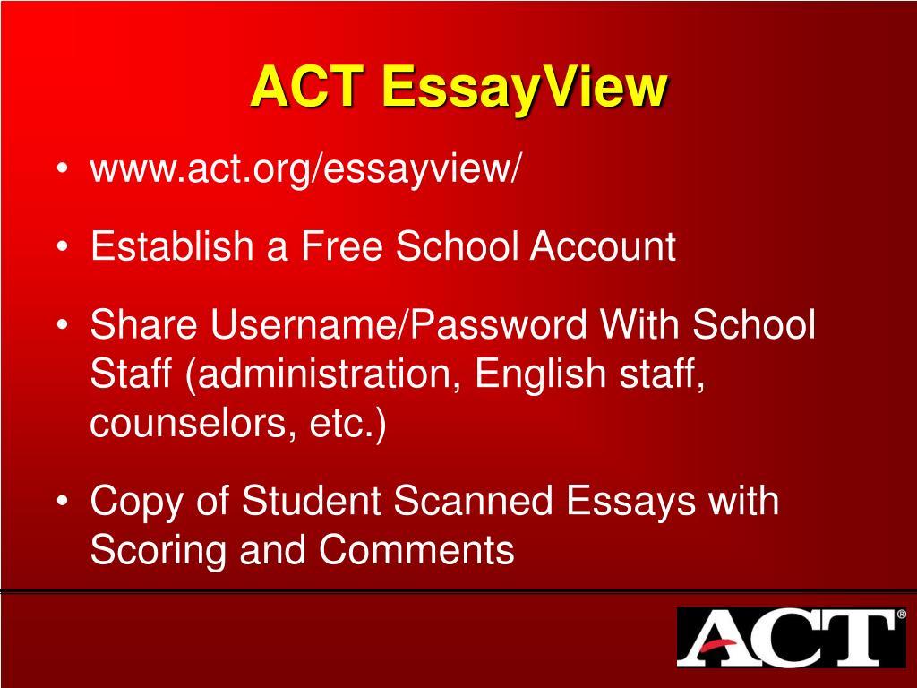 ACT EssayView