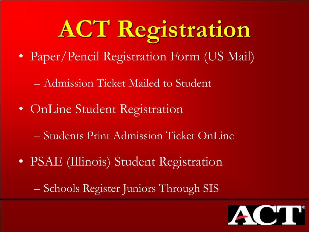 ACT Registration