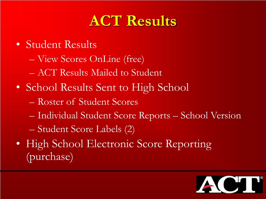 ACT Results