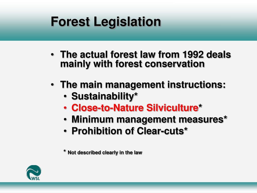 Forest Legislation
