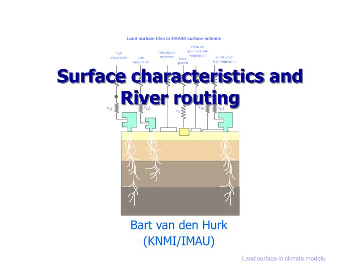 Surface characteristics and river routing