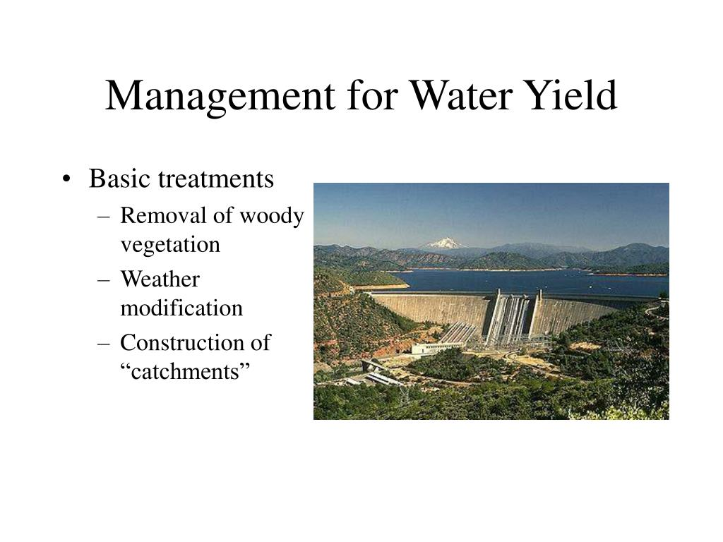 management for water yield l.