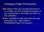 changing folder permissions
