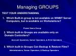 managing groups57