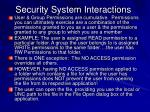 security system interactions
