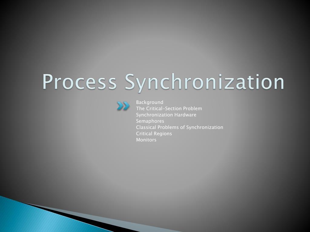process synchronization l.