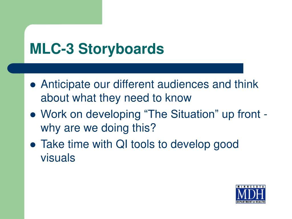 MLC-3 Storyboards