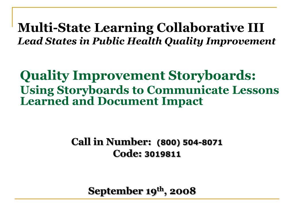 Multi-State Learning Collaborative III