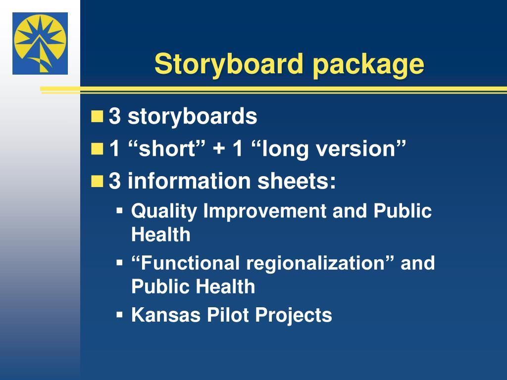 Storyboard package