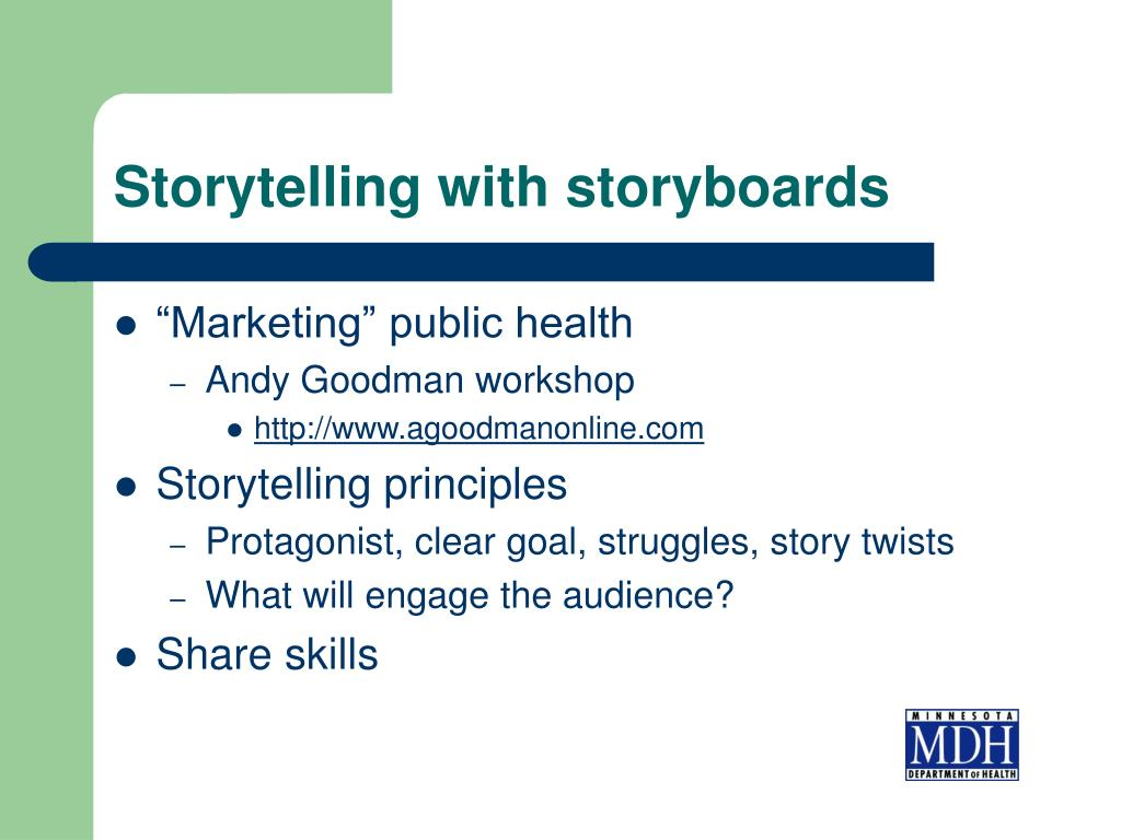 Storytelling with storyboards