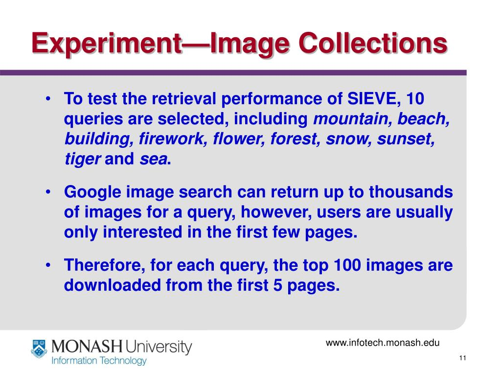 Experiment—Image Collections