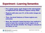 experiment learning semantics