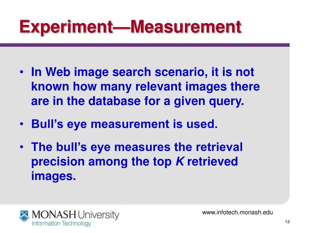Experiment—Measurement