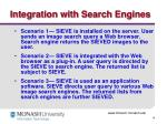 integration with search engines