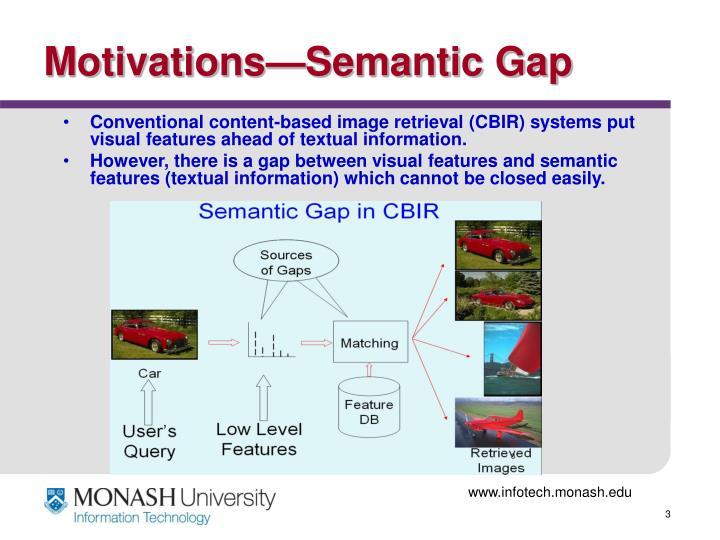 Motivations semantic gap