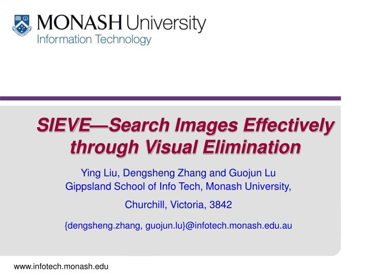 Sieve search images effectively through visual elimination