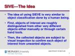 sive the idea