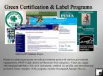 green certification label programs