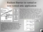 radiant barrier in vented or non vented attic application