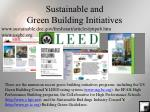 sustainable and green building initiatives