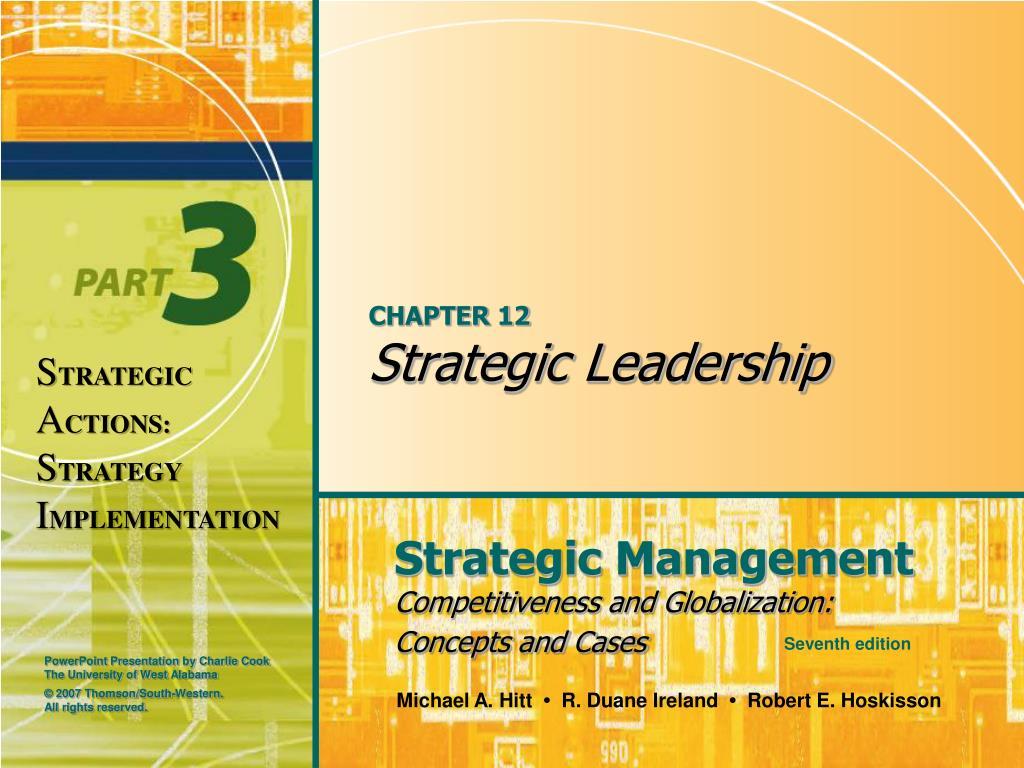 chapter 12 strategic leadership l.