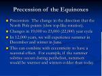 precession of the equinoxes