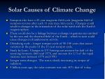 solar causes of climate change