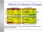 effects of albedo change