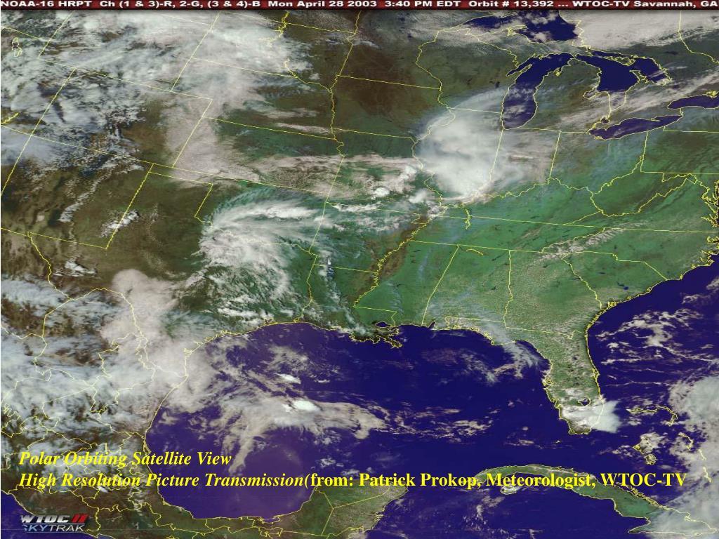Polar Orbiting Satellite View