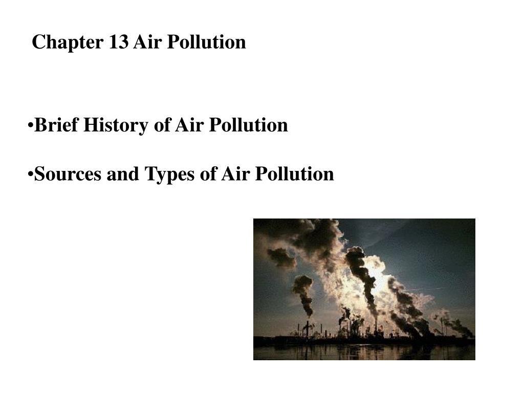 Chapter 13 Air Pollution