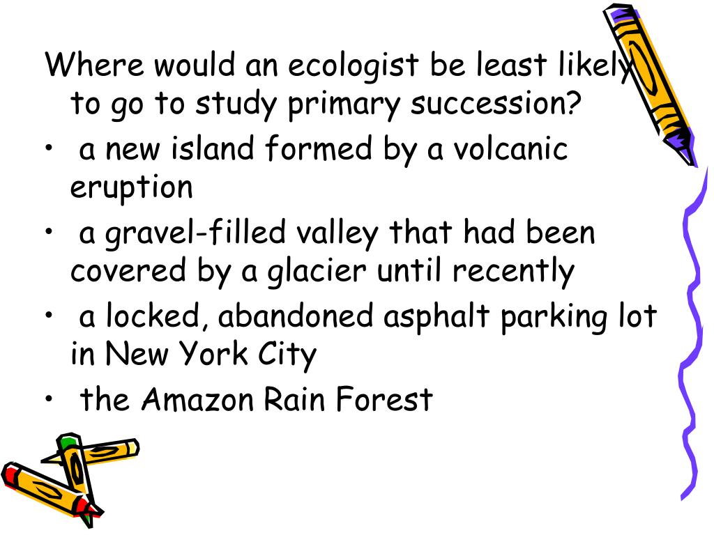 Where would an ecologist be least likely to go to study primary succession?