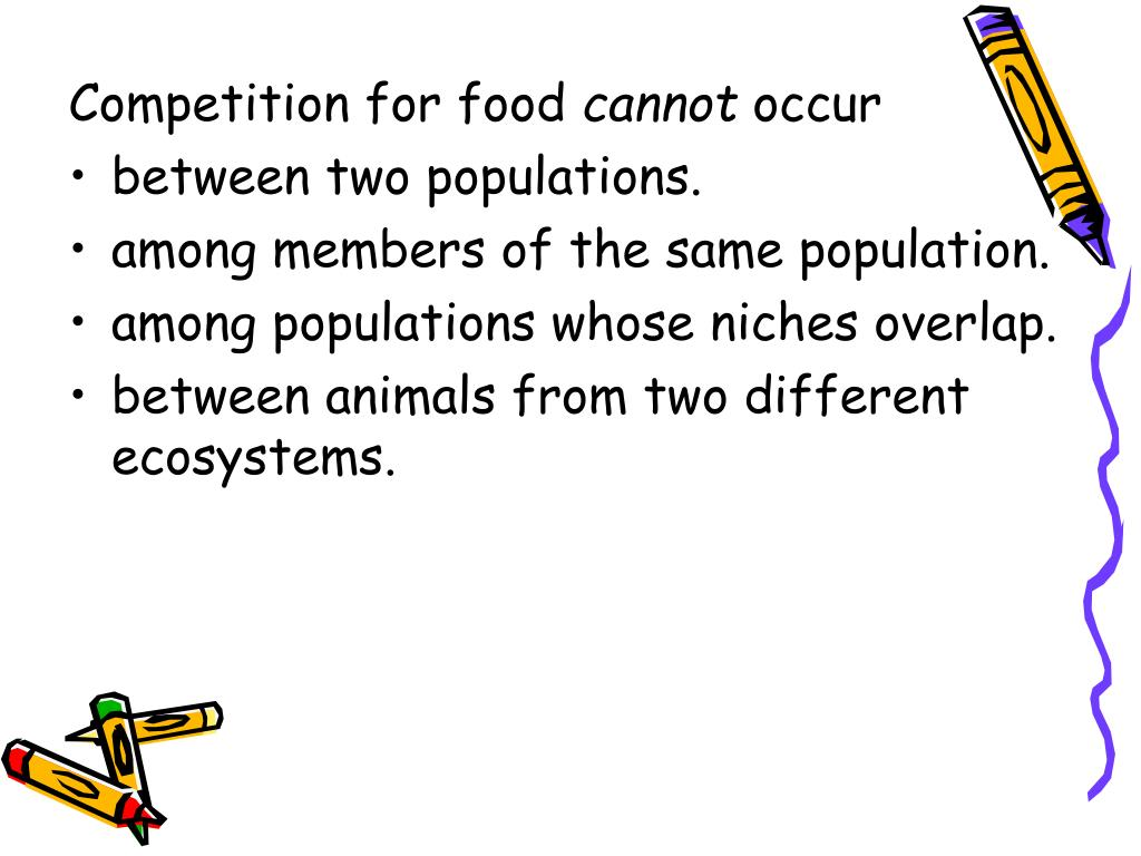 Competition for food