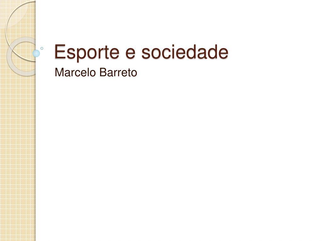 esporte e sociedade l.