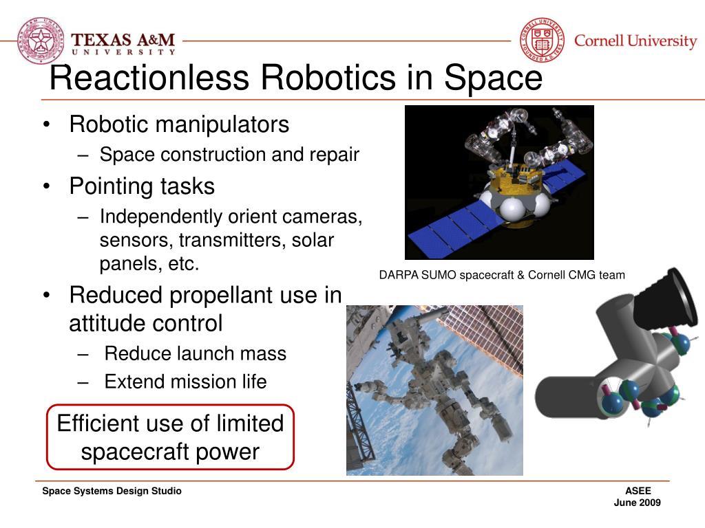 Reactionless Robotics in Space
