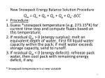 new snowpack energy balance solution procedure