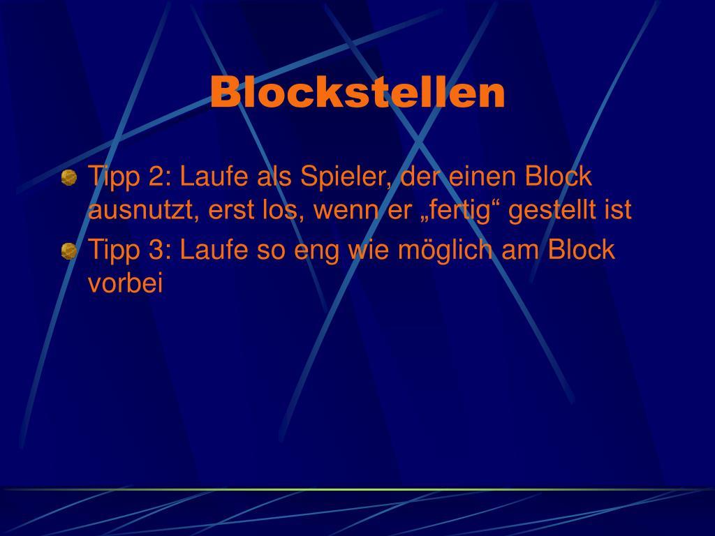 Blockstellen