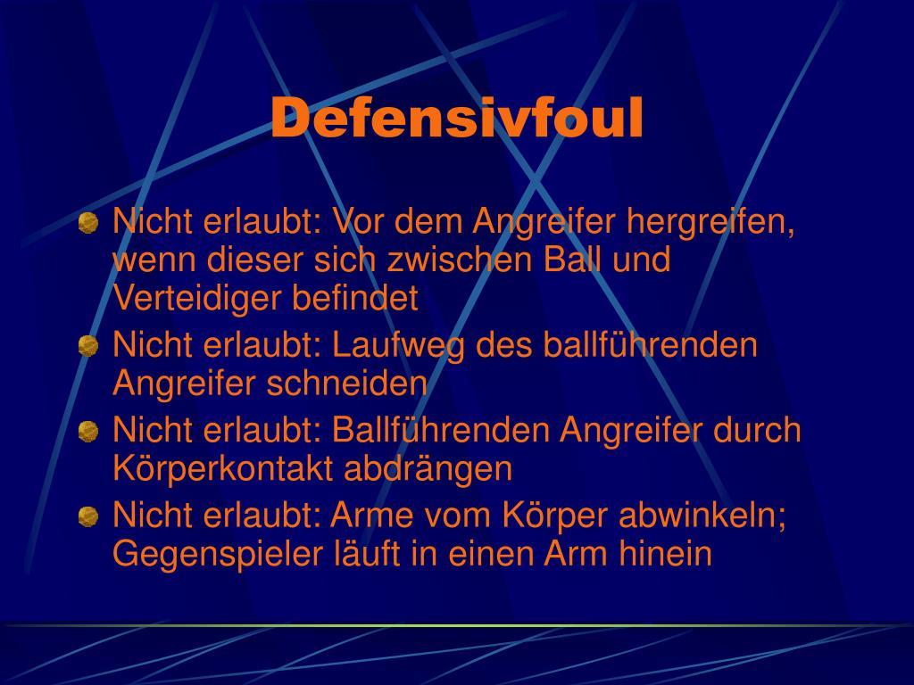 Defensivfoul