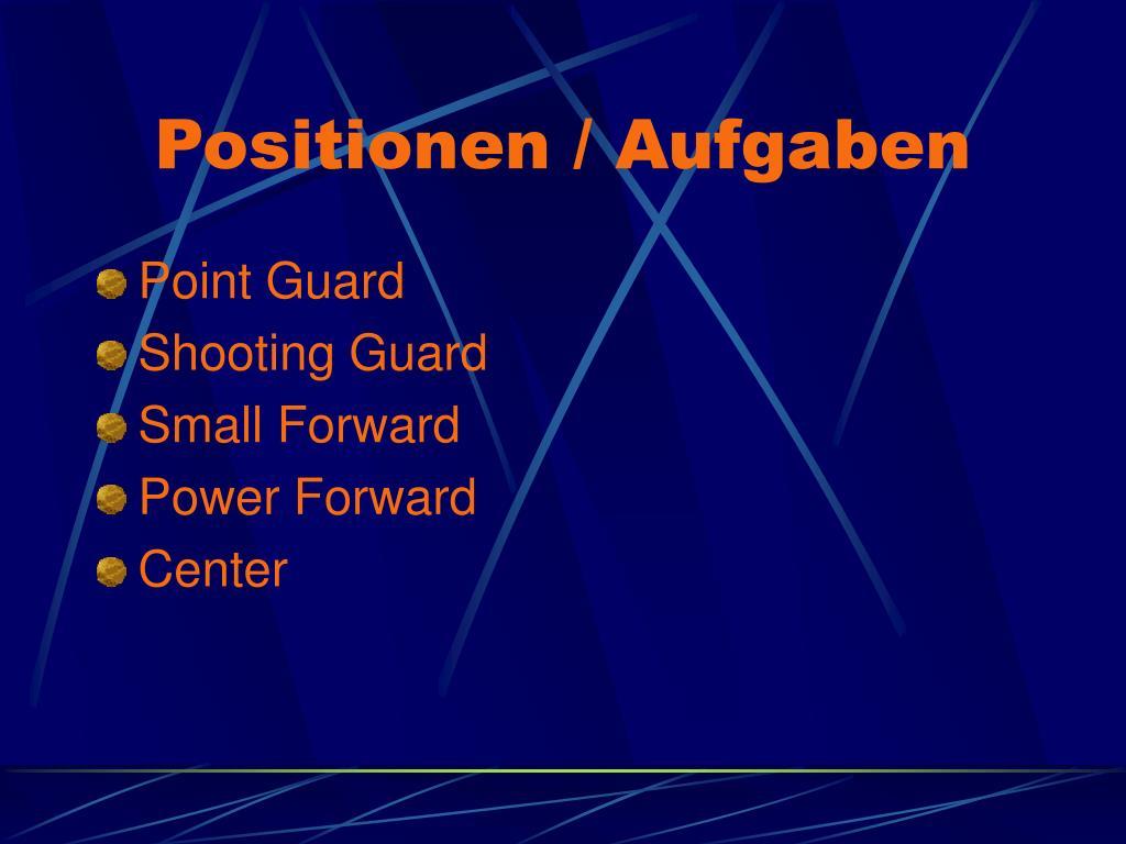 Positionen / Aufgaben