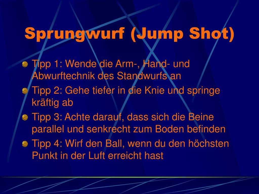 Sprungwurf (Jump Shot)