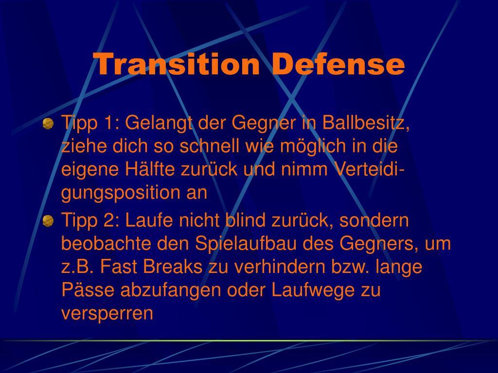 Transition Defense