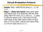 circuit evaluation protocol