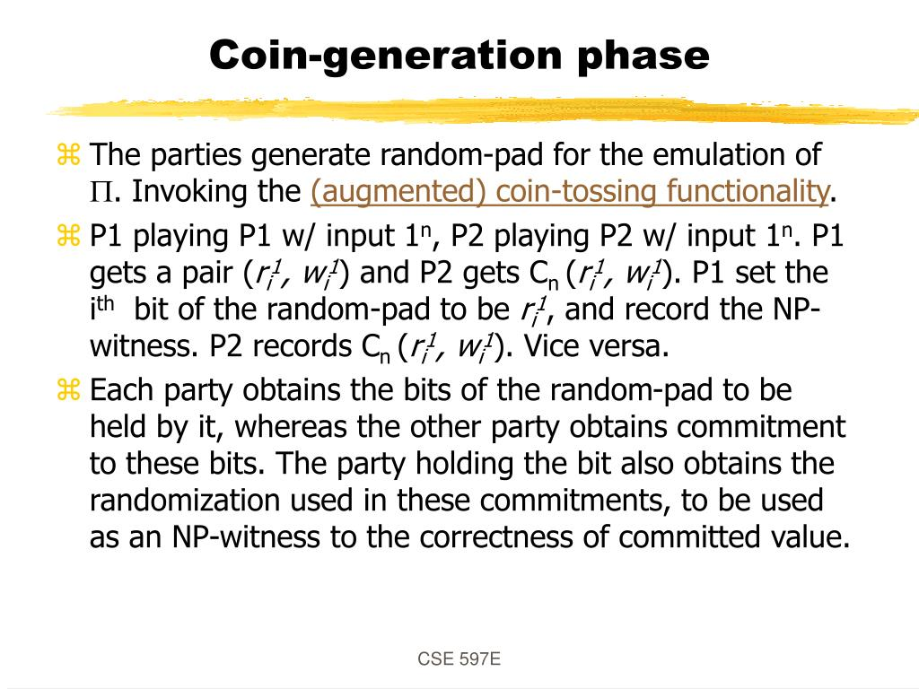 Coin-generation phase