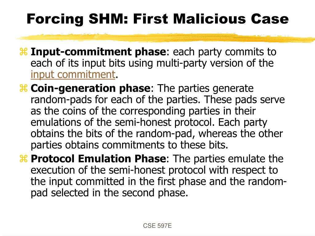 Forcing SHM: First Malicious Case