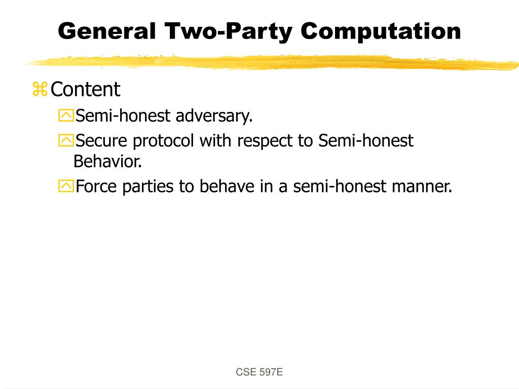 General Two-Party Computation