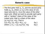 generic case