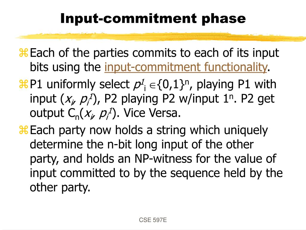 Input-commitment phase