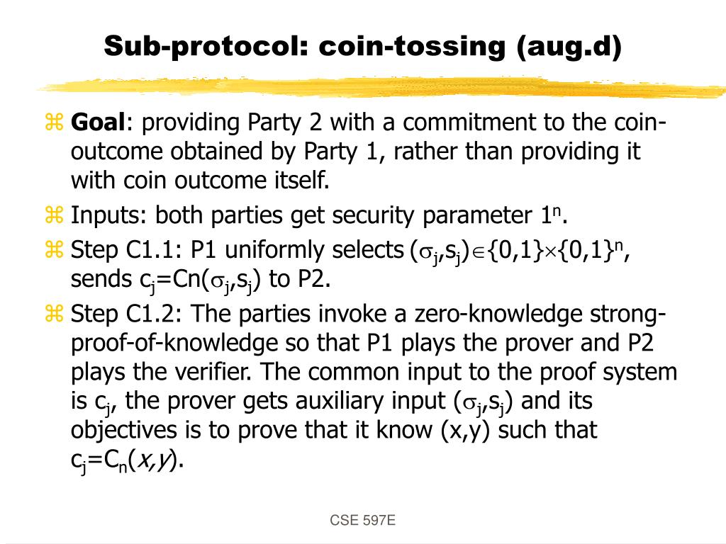 Sub-protocol: coin-tossing (aug.d)